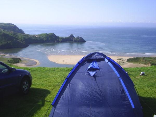 Caravans Amp Camping Three Cliffs Bay Holiday Park Gower